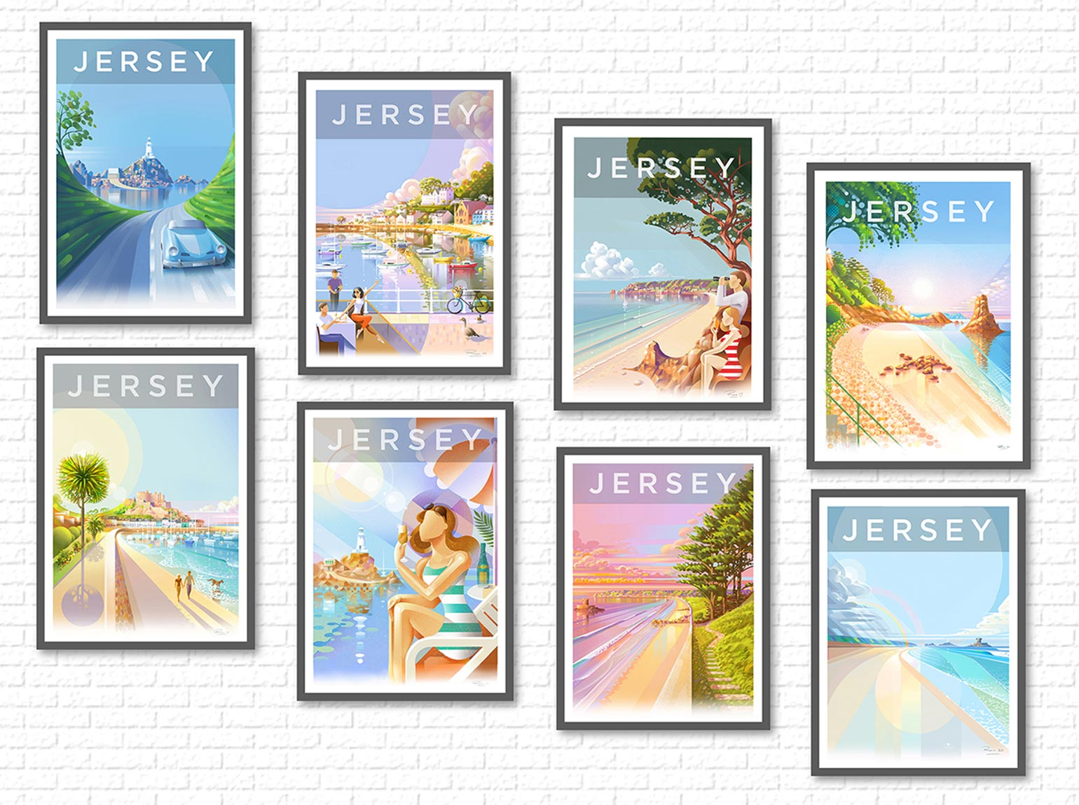 Ron Mills Jersey Travel Poster Series