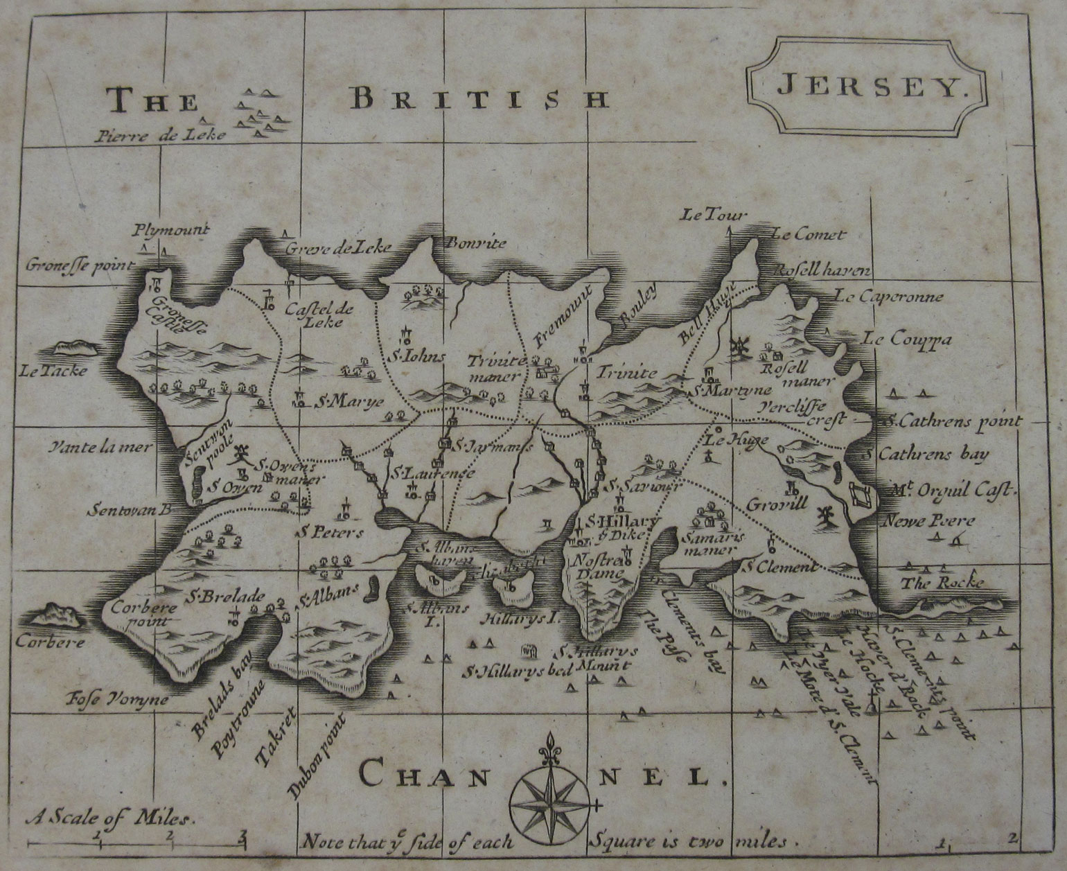 Jersey Map, 1797