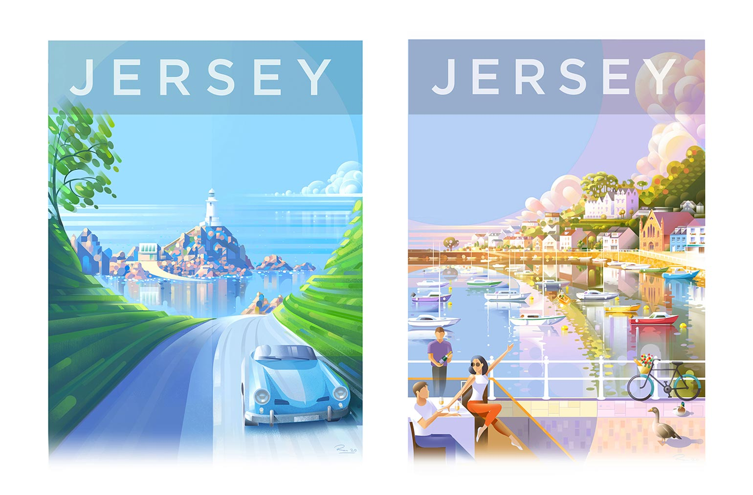 Ron Mills Jersey Travel Poster Series Final Art